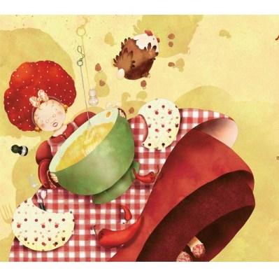 """Кулинарная фея, иллюстрация из книги """"Поляна фей"""""""