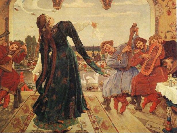 Иллюстрация к сказке «Царевна-лягушка». Художник В.М. Васнецов. 1901 г.: