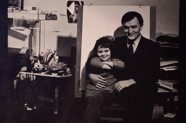 У папы в мастерской,1974 год.