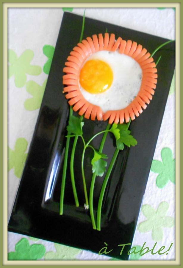 цветок из сосиски