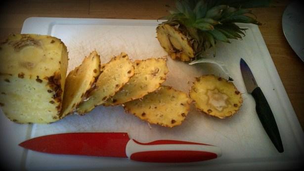 как резать ананасы