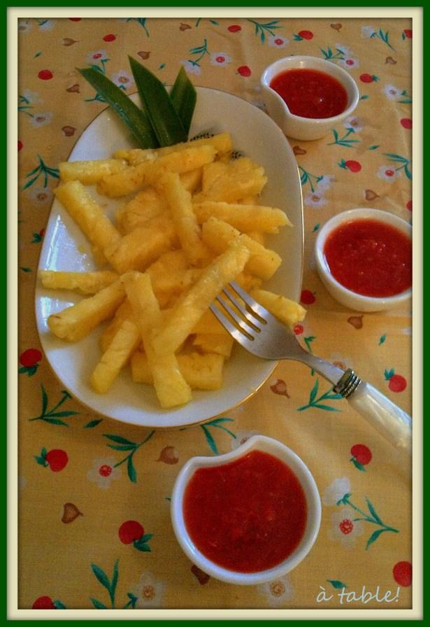 ананас фри_frites d'ananas