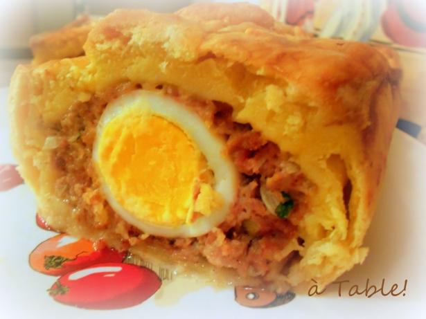 берийский паштет с запечённым яйцом