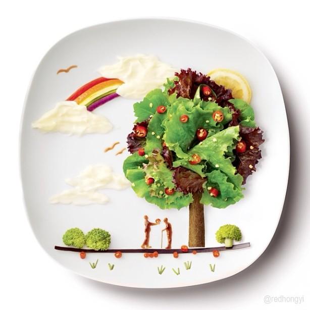 """""""Маленькое чудо на тарелке"""". Автор всей красоты – малазийская художник-архитектор Hong Yi"""