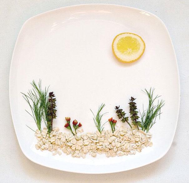 """""""Найди крошечный сад на моей тарелке сегодня. Вот и солнце вышло"""" / Автор: Hongi Yi"""