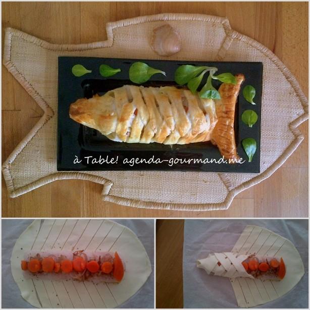 запечённое филе рыбы в тесте