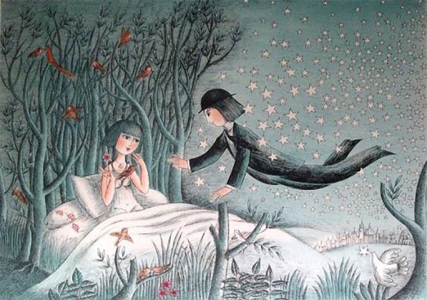 """""""Поэт и его невестa"""" Раймонд Пейне  (Raymond Peynet)  — французский художник-график."""