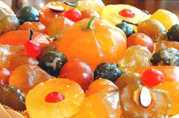 Засахаренные фрукты - одна из характерных блюд Прованса. Они входят в состав 13 традиционных рождественских десертов.