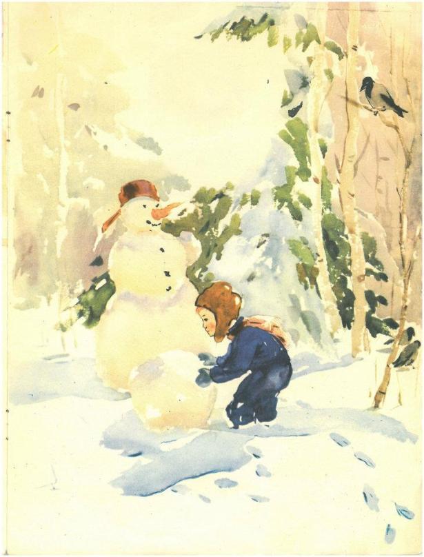 Иллюстрация моего  отца, когда ему было 18 лет, к сборнику стихов для детей, эстонского писателя Эно Рауд. (1957 год).