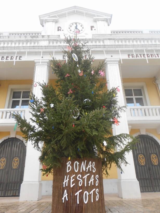 Sapin de Noël, Mairie de Saint Vincent de Tyrosse.