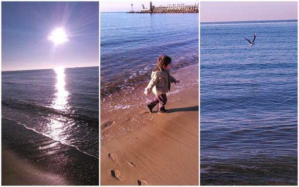Le dernier jour d'année 2014... Зимняя прогулка 31 декабря. Пляж в Капбретоне.