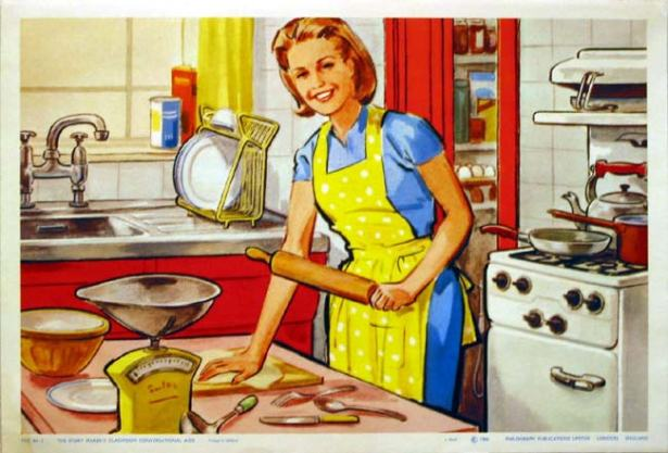 Хозяйка на кухне должна быть привлекательной :)