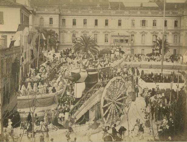 Mardi Gras, Карнавал, Ницца, Франция, 1880. Mardi Gras можно интерпретировать как смесь католических и языческих традиций.