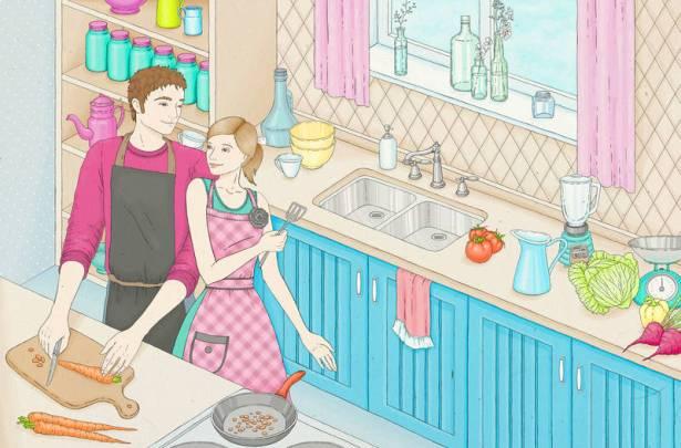 Объедините совместные таланты и радостное настроение, чтобы превратить обычный обед или ужин в увлекательное приключение, где каждый ингридиент, играя красками впечатлений, рисует незабываемые моменты каждого дня!  Фартуки Love Home Love для нее и для него создадут самое подходящее настроение! В них готовка превращается в путешествие в мир вкуса и эмоций!