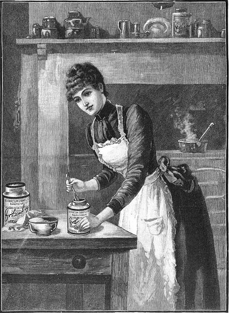 A classically beautiful illustration for Liebig Extract of Beef, 1890.