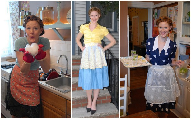 My Sexy 'Domestic Goddess' Vintage Apron Collection