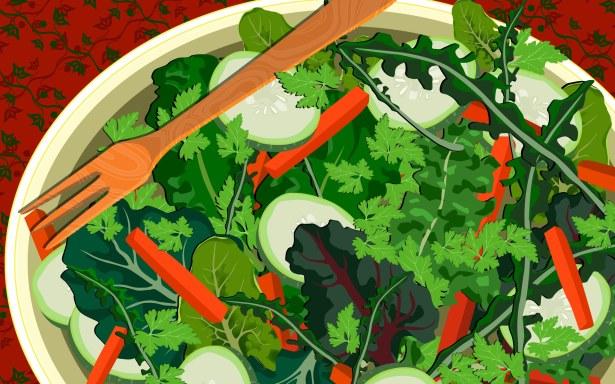 Ensalada de verduras, wallpaper