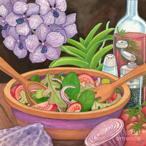 Salad and Orchids, artist Tammy Yee (Kaneohe HI, United States)