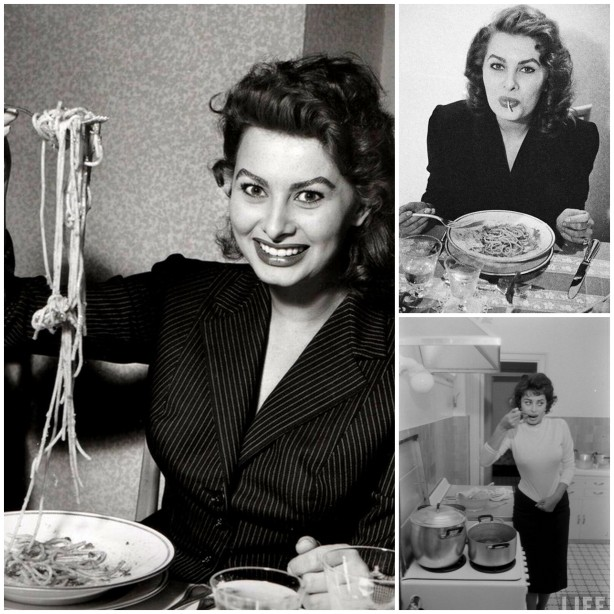 «Лучше всего есть спагетти, вдыхая их как пылесос», – говорит Софи Лорен.