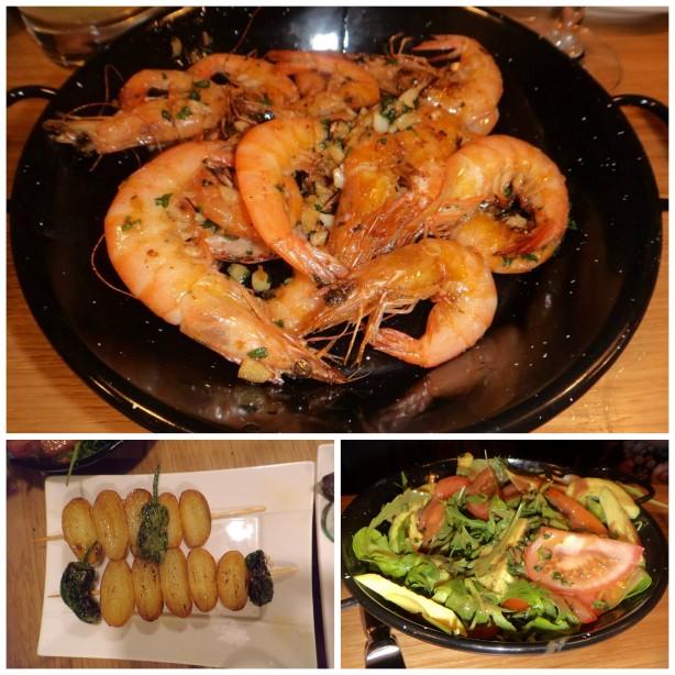 Вегетарианки  вместо морепродуктов заказали себе салат из овощей с авокадо и овощи гриль.